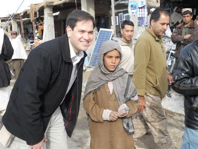 Visit_1.16.11 Rubio with Afghan boy