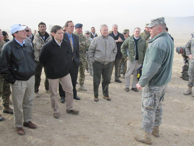 Visit_Afghan training briefing by General Patton