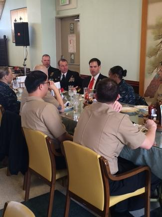 1.21.2014 Lunch.Florida Service Members