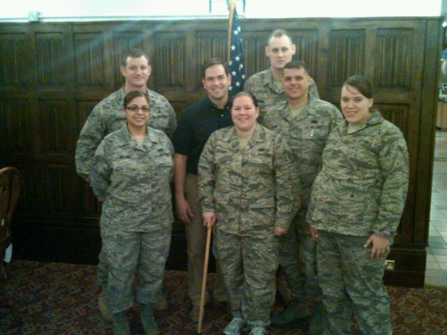 Visit_1.18.11 Rubio with Florida servicemen and women